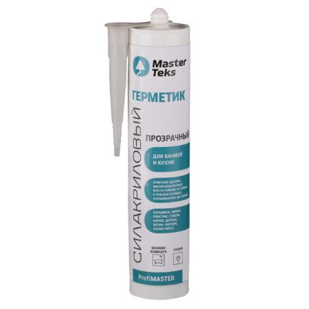 Герметик силакриловый MASTERTEKS PM Для ванной и кухни прозрачный 290мл